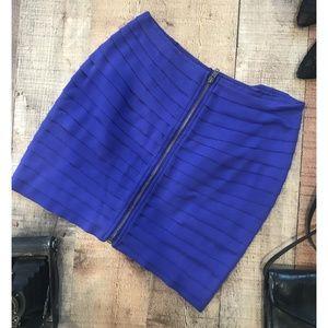 Silence + Noise Purple tiered Mini Skirt Medium